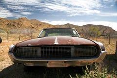 Antique american car in the desert Stock Image