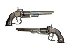 Antique american Savage percussion revolver Royalty Free Stock Photography