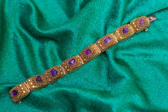 Antique amethyst bracelet Stock Images