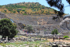 Antique amphitheater. In an antique city the Ephesus Royalty Free Stock Photos