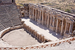 Antique amphitheater in the ancient city of Hierapolis. Pamukkale, Turkey Stock Image
