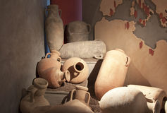 Antique amphora. Found in Solunto, Sicily Royalty Free Stock Image