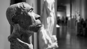 A antique Ancient Man Bust Royalty Free Stock Photography