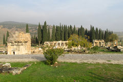 Antique ancient ruins of Hierapolis in Turkey Royalty Free Stock Image