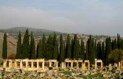 Antique ancient ruins of Hierapolis in Turkey Royalty Free Stock Images