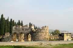 Antique ancient ruins of Hierapolis in Turkey Stock Photo