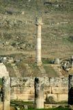 Antique ancient ruins of Hierapolis in Turkey stock photos
