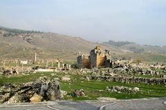 Antique ancient ruins of Hierapolis in Turkey Royalty Free Stock Photo