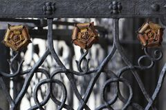 Antique ancient steel metal yellow rose flower, home decoration backgrounds. Attractive picture stock photos
