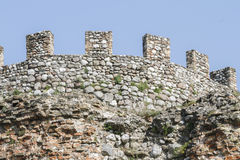 Antique ancient walls of castle Royalty Free Stock Photos