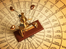 Antique Anemometer On Map Of The Winds. 3D Illustration Stock Image