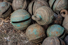 Antique animal bronze bells Royalty Free Stock Photography