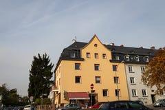 Antique apartment in big city. Frankfurt am main Stock Image
