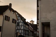 Antique apartments in the village. Seligenstadt Stock Photos