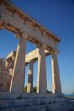 Antique Aphaia temple in Aegina Island, Greece Royalty Free Stock Image