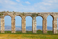 The antique aqueduct Stock Photography