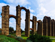 Antique   Aqueduct of Merida Royalty Free Stock Image