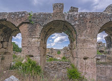 Antique aqueducts Royalty Free Stock Photos