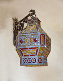 Antique arabic lantern Stock Photos