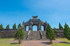 Antique arch in Hue, ancient capital of Vietnam Royalty Free Stock Image