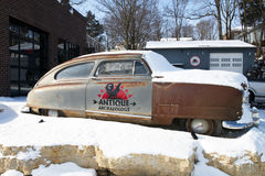 Antique Archeology American Pickers History Channel TV Show. The parking lot and shop of Antique Archeology known as the American Pickers TV show on the History Royalty Free Stock Image
