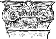 Antique architectural detail Royalty Free Stock Photo