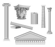Antique Architectural Elements. Isolated on white Stock Image