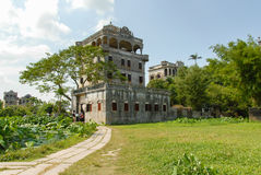The antique architectures of Light Tower. The antique architectures of FangShi DengLou Light Tower in Kaiping County, Guangdong province, China Stock Photo