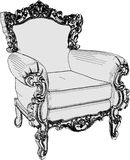 Antique Armchair 01. Antique Decorative Armchair High Detail Royalty Free Stock Images