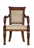 Antique armchair front view Stock Images