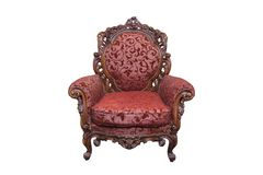Antique armchair Stock Photography