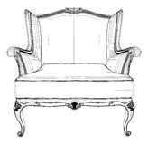 Antique Armchair Vector 03. Antique Armchair Isolated Illustration Vector Royalty Free Stock Photo