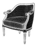 Antique Armchair Vector Stock Images