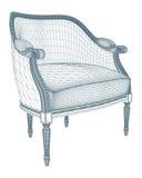 Antique Armchair Vector Stock Image