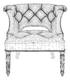 Antique Armchair Vector Royalty Free Stock Images