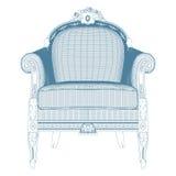Antique Armchair Vector Royalty Free Stock Photo
