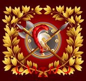 Antique arms and a laurel wreath. Vector. Illustration EPS 10 Royalty Free Stock Photo