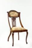 Antique Art Nouveau parlour chair with flowing curved lines Stock Image
