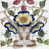 Antique Art Nouveau tile Stock Image