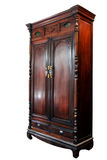 Antique asian style wooden wardrobe from thailand isolated on wh. Ite background Royalty Free Stock Photography