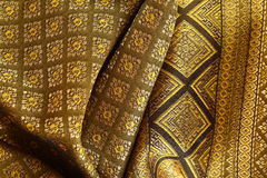 Antique Asian textile. Detail, closeup shot Royalty Free Stock Photo