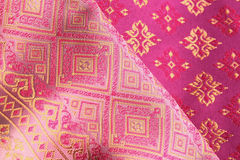 Antique Asian textile Stock Images