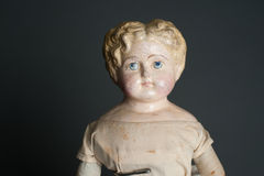 Antique authentic old bisque doll Royalty Free Stock Photos