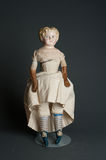 Antique authentic old bisque doll Stock Photo