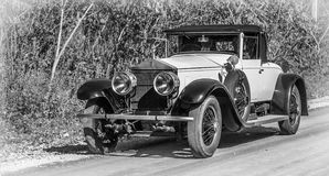 An antique auto mobile classic car from yesteryear. Stock Images