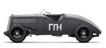 Antique Auto racing GAZ GL-1. Side view. Royalty Free Stock Photos