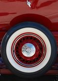 Antique Auto Spare Tire Stock Photo