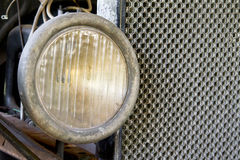 Antique Automobile Headlight Stock Photo