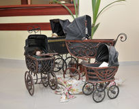Antique Baby Carriages Stock Images