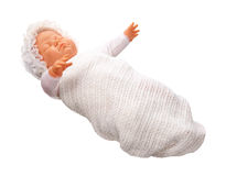 Antique Baby Doll isolated Royalty Free Stock Image